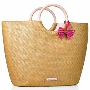 NWT Juicy Couture Straw Tote